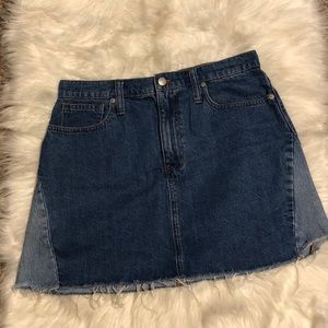 Madewell Denim A-Line Skirt